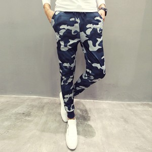 Men Casual Pants New Camouflage Slim Fit Army Camouflage Trousers Pencil Camo Pants Hip Hop Sweatpants Military Joggers