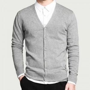 Men Fashion Style Cardigan V Neck Single Breasted Thin Wool Whole Cotton Comfortable Material Autumn Cardigans Sweaters