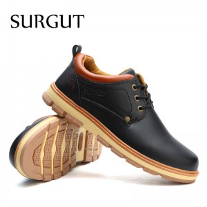 Men Shoes New Spring and Autumn Casual Fashion Safety Oxfords Breathable Flat Footwear Pu Leather Waterproof Shoes Men