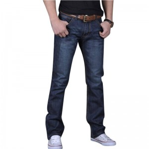 Men Trouser Autumn Spring Cowboy Jeans Casual Middle Waist Top Quality Straight Thumbnail