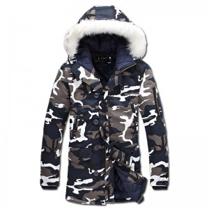 Men Winter Camouflage Parka Maculina Slimfit Waded Jackets Down For Men New Thumbnail