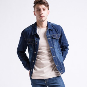 Mens Denim Jacket Light Washed Non Elastic Jeans Jacket Wide Waisted Coat  Large Size Autumn Winter Male Outwear