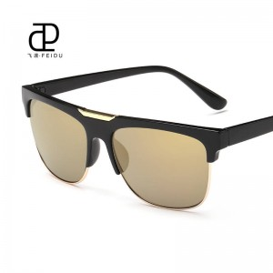 Mens Fishing Sunglasses Fully Customized Half Frame New Fashion Half Rim Adult Leopard Sunglasses