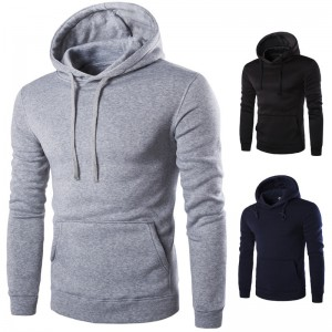 Mens Fleece Jacket Warm Autumn Winter Clothing Solid Color Hooded Coat Warm Male Clothing Plus Size