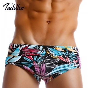 Mens Swimwear Sexy Low Waist Swim Boxers Surf Board Shorts Trunks Gay Men Swimsuits Brazilian Traditional Style