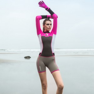 Neoprene Short Women Scuba Diving Suits One Pieces Snorkeling Equipment Wetsuits Surfing Rash Guards Bodysuits