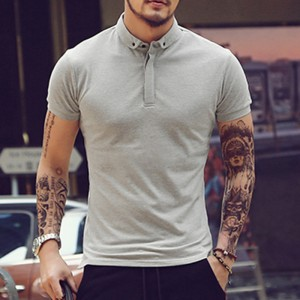 New 2018 Mens Polo Shirt For Men Polos Men Cotton Short Sleeve Shirt Solid Polo Shirts Casual Breathable Sportswear