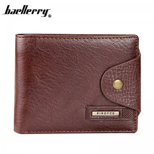 New 2019 Genuine Leather Brand Men Wallets Design Short Small Wallets Male Mens Purses Card Holder Purse
