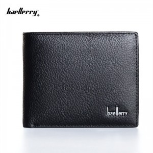 New 2019 Genuine Leather Purses And Wallets For Men Black Coin Holder Card Holder Bill Wallets