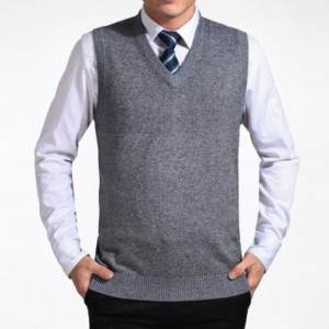New Arrival 2019 Solid Color Sweater Vest Men Cashmere Sweaters Wool Pullover Men Brand V Neck Sleeveless Jersey