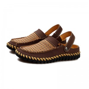New Arrival Breathable Hollow Slippers Beach Sandals Indoor Home For Men Thumbnail