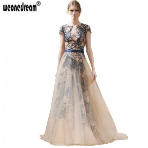 New Arrival Evening Dress With Summer Long Zipper Chiffon Dress Embroidered Fairy Princess Dress For Women Thumbnail
