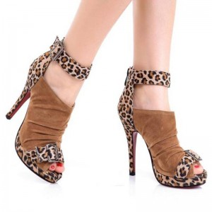 New Arrival High Heels Leopard Print Gladiator Sandals Sexy For Women Thumbnail
