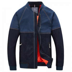 New Arrival Men Fashion Denim Jacket Stand Collar Denim Patch Slim Fitted Spring Outwear Plus size Male Outwear Jacket