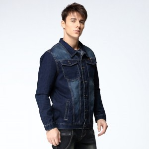 New Arrival Mens Denim Jacket Coat Hip Hot Loose Fit Wash Cotton Big Men Large Size Blue Denim Jackets Male Outwear