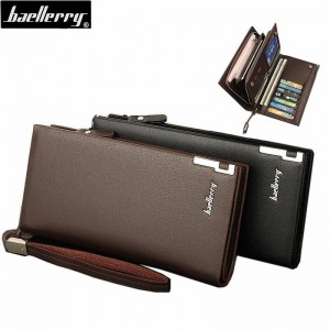 New Arrival Multifunction Zipper Wallets Multi Card High Capacity Purse For Men Thumbnail