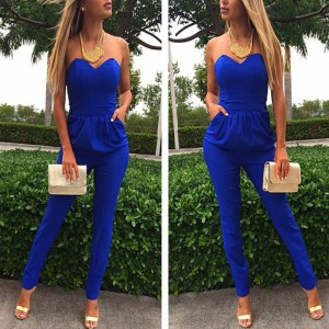 New Arrival New Fashion Women Full Length Clubwear Party Bodycon Jumpsuit Bodysuit Elegant Luxury For Women Thumbnail