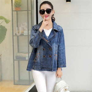 New Arrival Plus Size Women Denim Jacket Vintage Fashion Jeans Coat Casacos Femininos Ladies Casual Slim Denim Coats