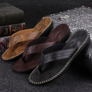 New Arrival Summer Cool Flip Flop British Style Beach Sandals Slippers For Men Thumbnail