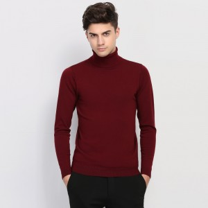 New Autumn Winter Brand Clothing Sweater Men Turtleneck Slim Fit Winter Pullover Men Solid Color Knitted Sweater Men