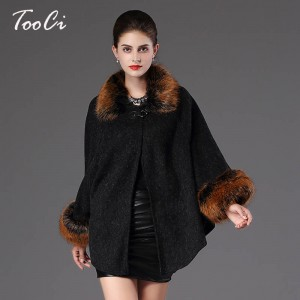 New Autumn Winter Warm Wrap Women Poncho Casual Cloak Warm Knitted Cardigan Women