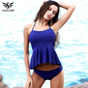 New Bikinis Women Swimsuit Push Up Swimwear Dress Halter Vintage Retro Bikini Set Beach Wear Bathing Suits Female