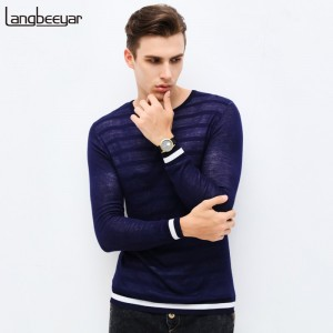 New Brand Clothing Sweater Men Fashion Stripe Slim Fit Winter Pullover Men Five pointed star pattern Knitted Men