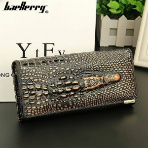 New Crocodile Women Wallet Top Layer Leather Lady Clutch Wallet Cow Leather Purse For Women Thumbnail