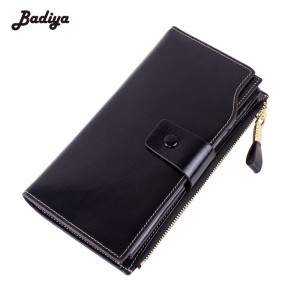 New Design Fashion Women Long Wallets Purses Genuine Leather Purse Card Holder Mobile Wallet Thumbnail