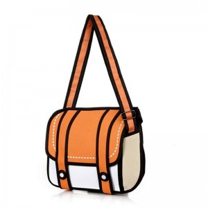 New Fashion 2D Bags School Bags Drawing Bags Comic Handbags Shoulder Bags Messenger Bags Women Thumbnail