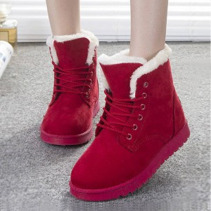 New Fashion Botas Mujer Warm Fur Ankle Boots Winter Autumn New Design Women Thumbnail