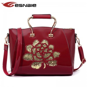 New Fashion Hollow Out Leather Handbags High Quality Vintage Style Shoulder Bags Ladies Bags Thumbnail