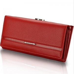 New Fashion Simulated Leather Wallets Long Design Women Clutch Coin Purse Embossed Handbag Thumbnail