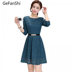 New Fashion Summer Autumn Long Sleeve Women Dress Casual Slim Office Wear Ladies Thumbnail