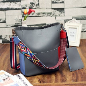 New Fashion Women Handbags Two Set With Wallet Designer Bags Bucket Bags Shoulder Bags For Women Thumbnail