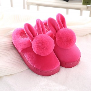 New Faux Rabbit Fur Warm House Slippers Indoor High Quality New For Women Thumbnail