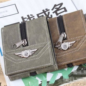 New Korean Style Canvas Wallets Long Purse Retro Punk Army Purses For Men Thumbnail