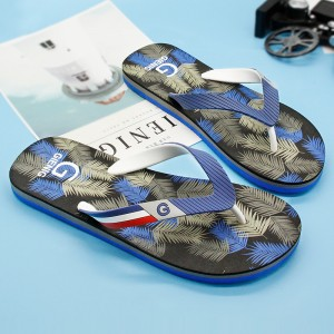 New Leaf Printed Slippers Flip Flops For Men Latest 2018 Slippers Beach Style Household Sandals For Men