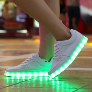 New LED Luminous Unisex Shoes Glowing USB Charging Casual Punk Shoes Men Thumbnail