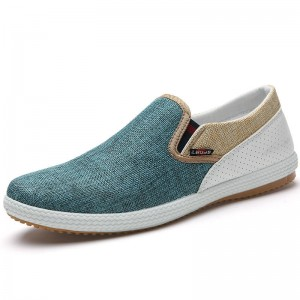 New Men Autumn Canvas Casual Comfortable Shoes Slip On Design For Men Thumbnail
