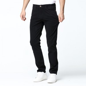 New Mens Casual Pant High Stretch Elastic Fabric Skinny Slim Cutting Trouser Pocket Badge Plus Size Rough Pants