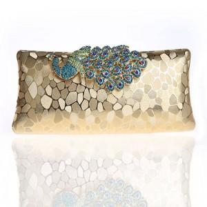 New Peacock Evening Clutch Banquet Clutch Fashion Wedding Party Shoulder Bags High Quality Day Clutches Thumbnail