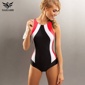 New Professional Swimwear One Piece Swimsuit Women Backless Monokini Bodysuit Bathing Beach Dress Women Thumbnail