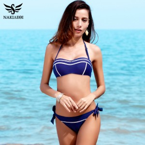 New Sexy Bandeau Bikinis Women Swimsuit Swimwear female Halter Brazilian Bikini Set Summer Beach Bathing Suit Swim