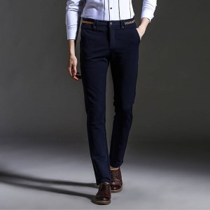 New Spring Autumn Fashion Slimfit Casual Striaght Business Suit Trousers Men Thumbnail