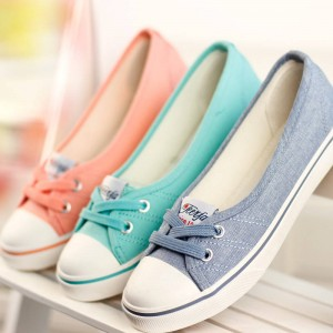 New Spring Summer Flat Canvas Casual Shoes Breathable New Design Women Thumbnail