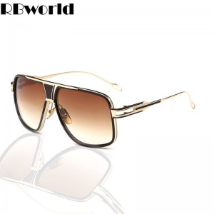 New Square Sunglasses Oversized Retro Vintage Eyewear Designer For Men Thumbnail