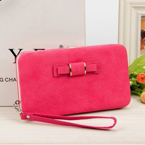 New Style Women Bow Zipper Pencil Case Wallet Box Style Purse Phone Bag New Arrival For Women Thumbnail