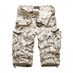 New Summer Cotton Cargo Shorts Multi Pocket Camouflage Outdoor Beach Men Thumbnail