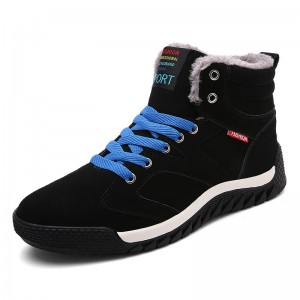 New Warm Winter Boots Men Snow Boots With Fur Keep Warm Platform Men Winter Snow Shoes Waterproof Ankle Boots Big Size